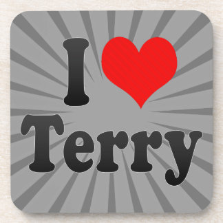 I love Terry Drink Coaster
