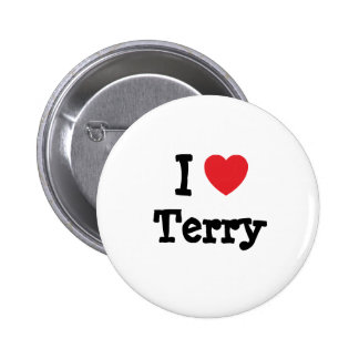 I love Terry heart custom personalised Pinback Button