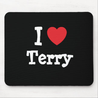 I love Terry heart custom personalized Mouse Pad