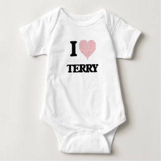 I Love Terry (Heart Made from Love words) Tee Shirts