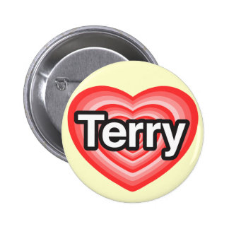 I love Terry. I love you Terry. Heart 6 Cm Round Badge