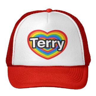 I love Terry I love you Terry Heart Mesh Hats