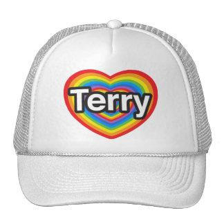 I love Terry I love you Terry Heart Hats