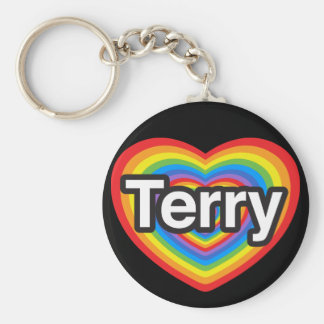 I love Terry. I love you Terry. Heart Key Chain