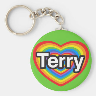 I love Terry. I love you Terry. Heart Keychain