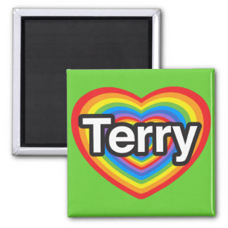 I love Terry. I love you Terry. Heart Magnet