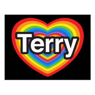 I love Terry. I love you Terry. Heart Postcard