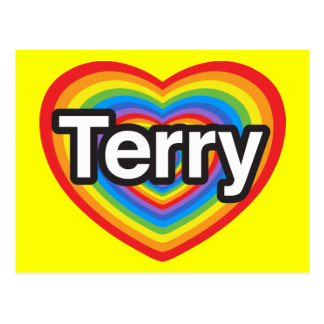 I love Terry. I love you Terry. Heart Postcard