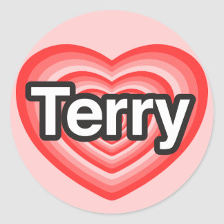 I love Terry. I love you Terry. Heart Classic Round Sticker