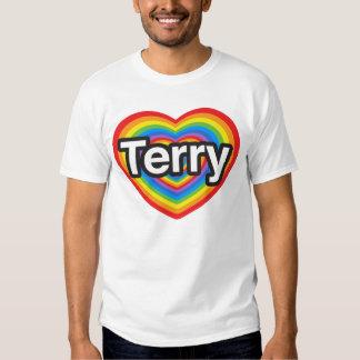 I love Terry. I love you Terry. Heart T-shirt