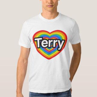 I love Terry. I love you Terry. Heart Tee Shirt