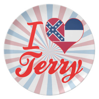 I Love Terry, Mississippi Party Plate