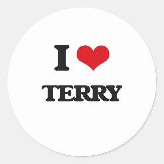 I Love Terry Round Sticker