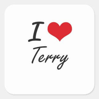I Love Terry Square Sticker