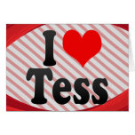 I love Tess Stationery Note Card