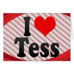 I love Tess Stationery Note Card