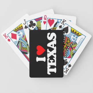 I LOVE TEXAS BICYCLE PLAYING CARDS