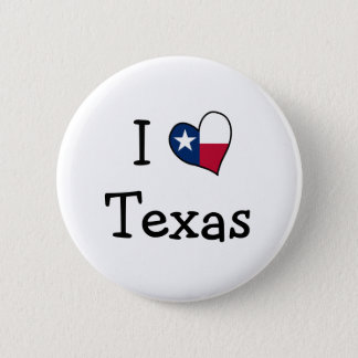 I Love Texas Button