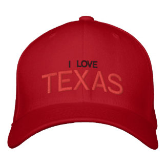 I LOVE TEXAS - CAP by eZaZZleMan Embroidered Hats