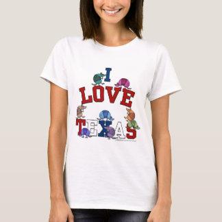 I Love Texas-Colorful Armadillos T-Shirt