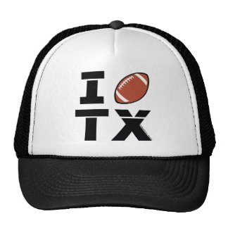 I love Texas football Mesh Hat