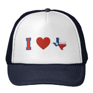 I Love Texas Mesh Hat