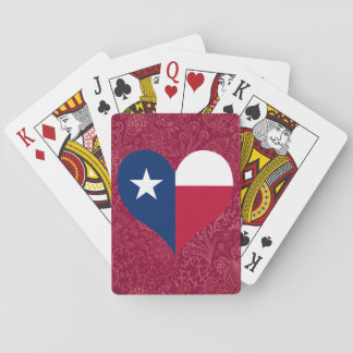 I Love Texas Playing Cards