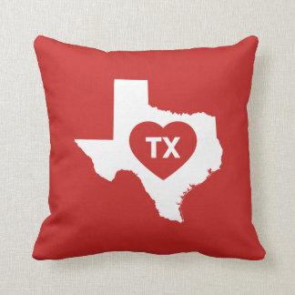 I Love Texas State Throw Pillow