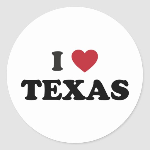 I Love Texas Sticker
