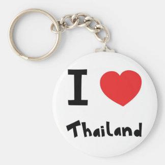 I love Thailand Basic Round Button Key Ring