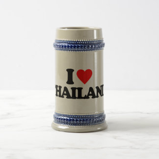 I LOVE THAILAND BEER STEINS