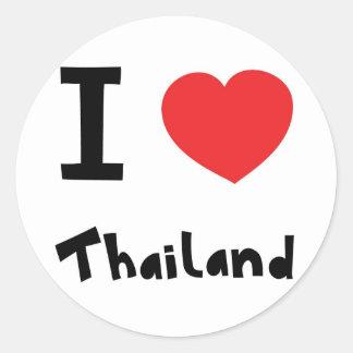 I love Thailand Classic Round Sticker