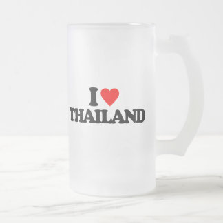 I LOVE THAILAND FROSTED GLASS MUG
