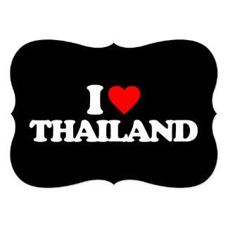 I LOVE THAILAND 5X7 PAPER INVITATION CARD