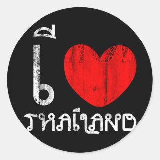 I Love Thailand or I Heart Thailand Classic Round Sticker