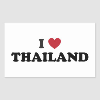 I Love Thailand Rectangular Sticker