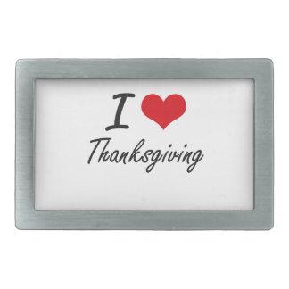 I love Thanksgiving Rectangular Belt Buckles