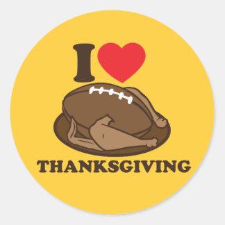 I love Thanksgiving Round Sticker