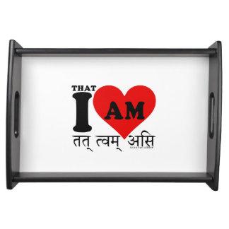 I Love, That I am, on sanskrit Serving Tray