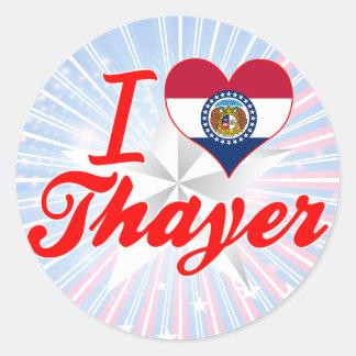 I Love Thayer Missouri Round Sticker