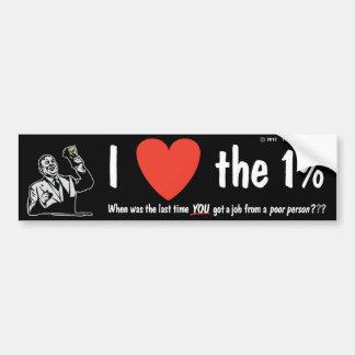 I LOVE the 1% Bumper Sticker
