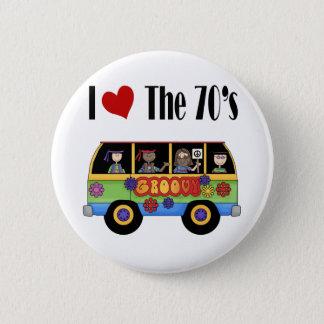I love the 70's 6 cm round badge
