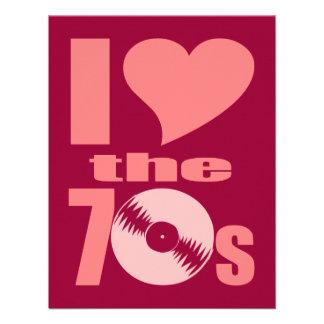 I Love the 70s Custom Invite