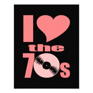 I Love the 70s Custom Invites