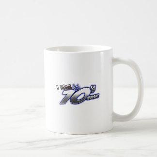 I Love the 70s Seventies 1970s MUSIC in 70s fan Basic White Mug