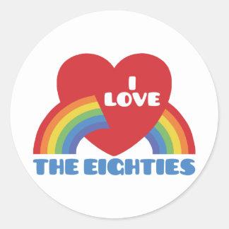 I Love The 80 s Sticker