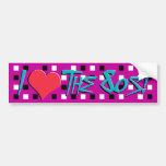 I Love The 80s Bumper Sticker Car Bumper Sticker