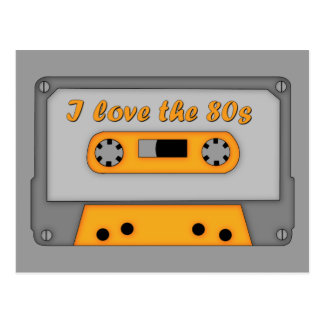 I Love The 80s (cassette) Postcard