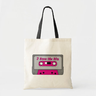 I Love The 80s (cassette) Tote Bag