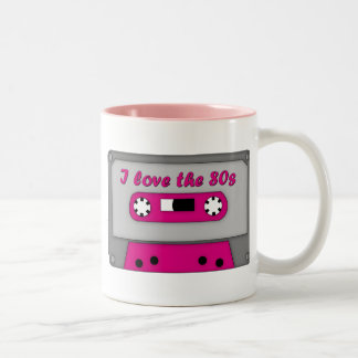 I Love The 80s (cassette) Two-Tone Coffee Mug